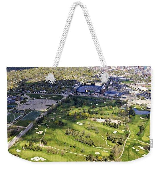 Ann Arbor Michigan Weekender Tote Bag