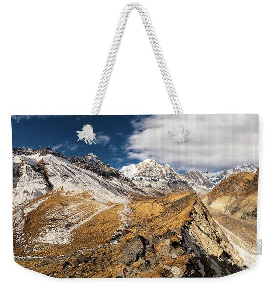 Annapurna South Peak In Nepal Weekender Tote Bag