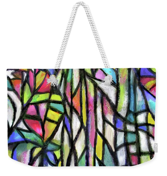 Abstract Forest Weekender Tote Bag