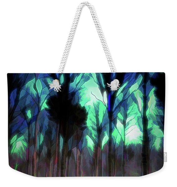 Weekender Tote Bag featuring the digital art Another World - Forest by Scott Lyons