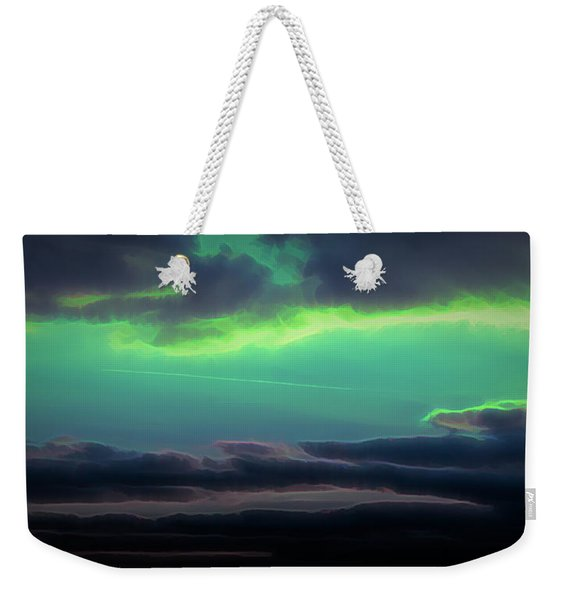 Weekender Tote Bag featuring the digital art Another World by Scott Lyons