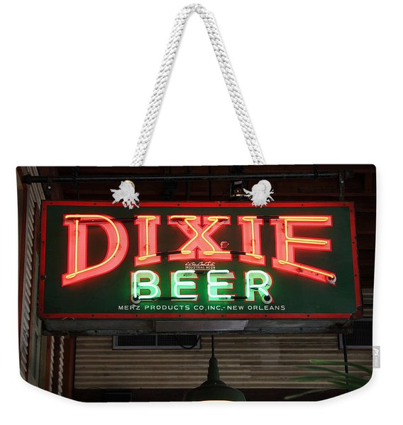Antique Dixie Beer Neon Sign Weekender Tote Bag