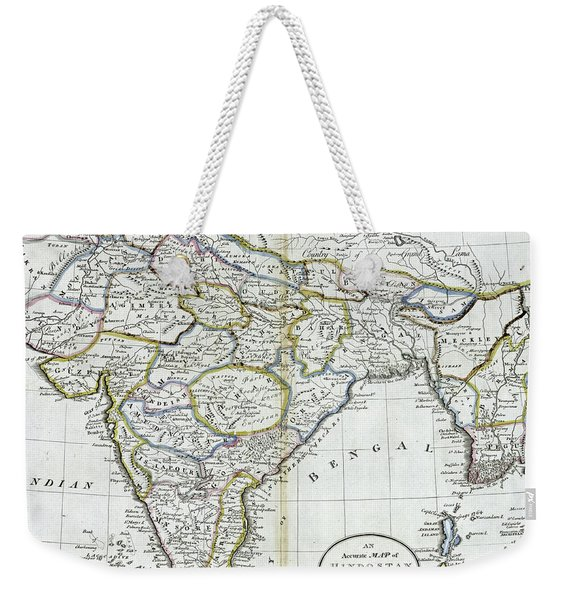Antique Map Of India   Weekender Tote Bag