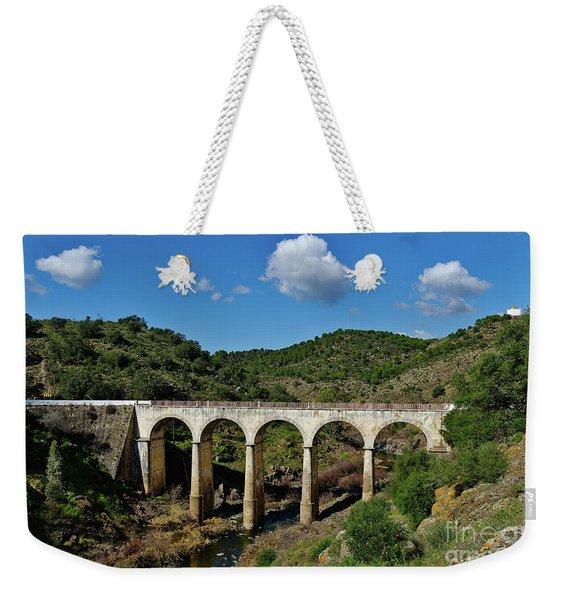 Antique Mertola's Bridge In Alentejo Weekender Tote Bag
