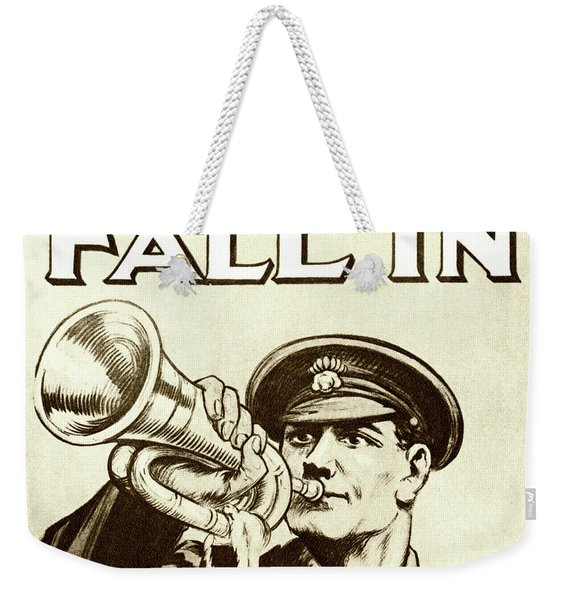 Antique Recruitment Poster For The British Army During World War One Weekender Tote Bag