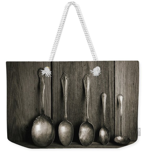Antique Silver Spoons Weekender Tote Bag