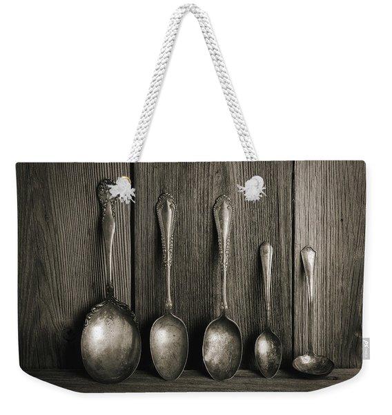 Antique Silver Spoons Weekender Tote Bag