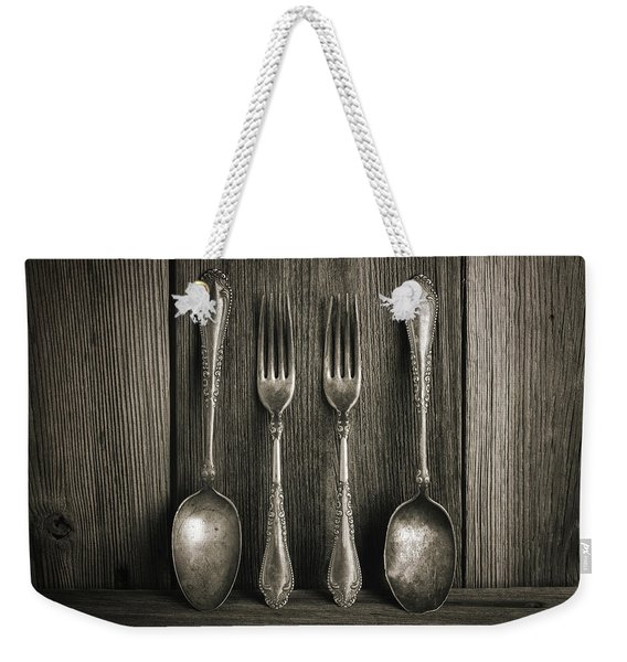 Antique Silver Tableware Weekender Tote Bag
