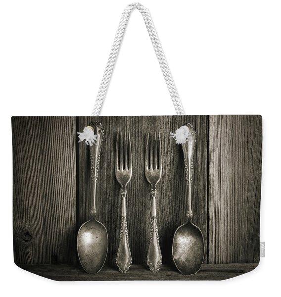 Antique Silver Tableware Weekender Tote Bag