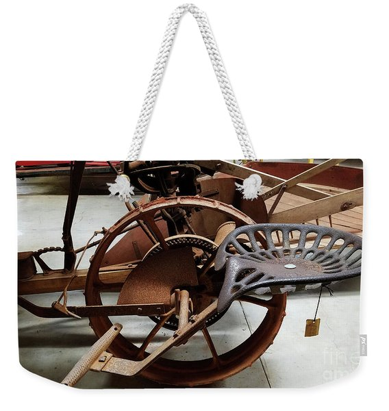 Antique Tractor Seat Weekender Tote Bag
