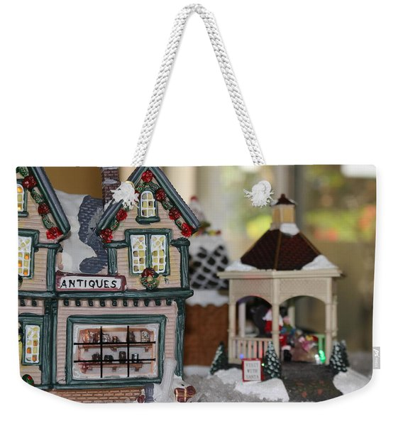 Antiques In Christmas Town Weekender Tote Bag