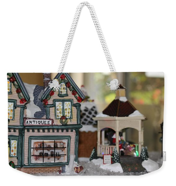 Antiques In Christmas Town Weekender Tote Bag