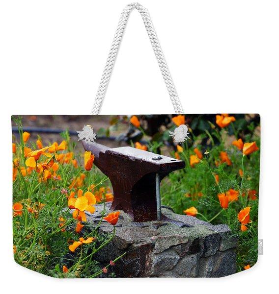Anvil In The Poppies Weekender Tote Bag