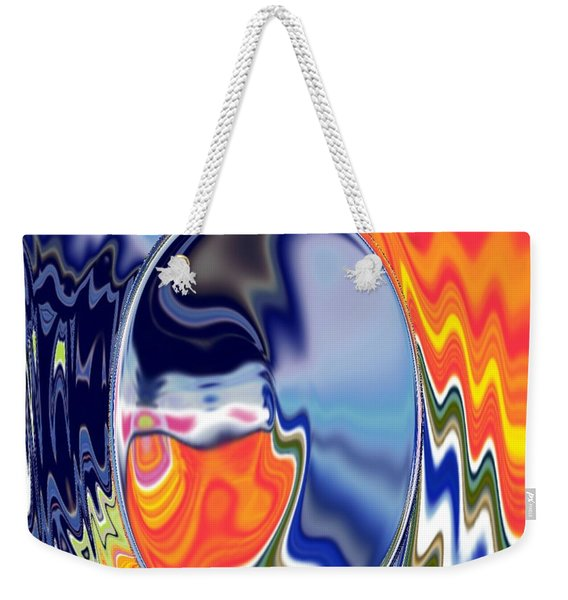 Weekender Tote Bag featuring the digital art  Ooo by A z akaria Mami