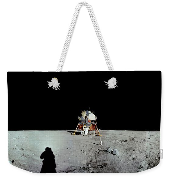 Apollo 11 Panorama Of The First Men Weekender Tote Bag