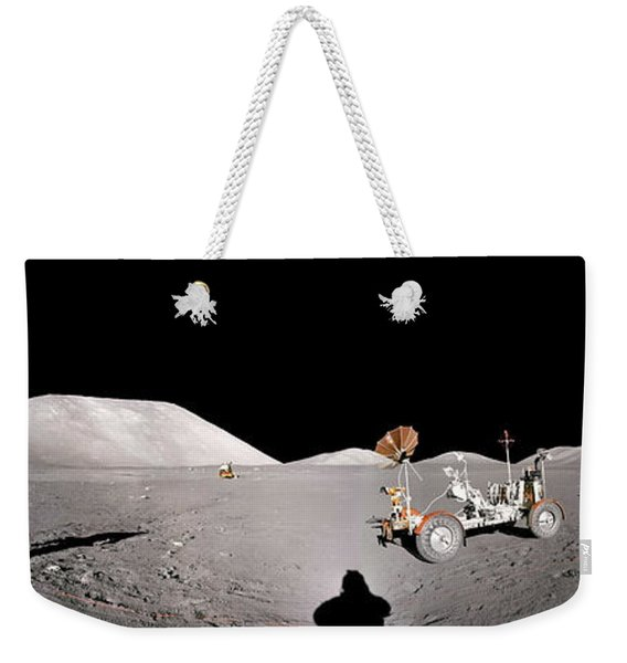 Apollo 17 Taurus-littrow Valley The Moon Weekender Tote Bag