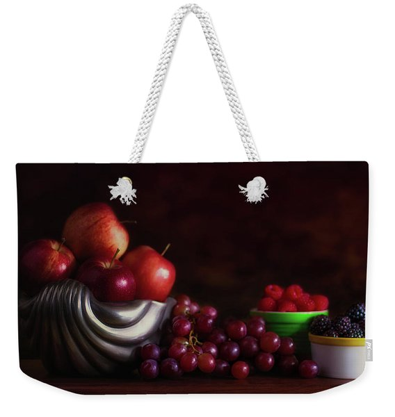 Apples With Grapes And Berries Still Life Weekender Tote Bag