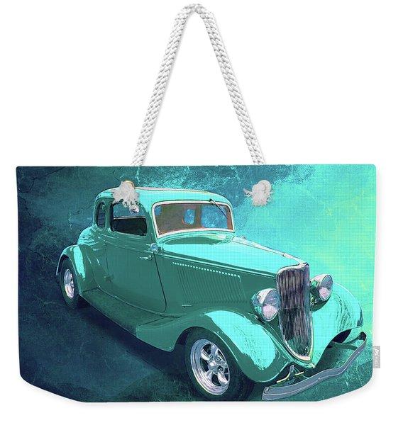 Aqua 1934 Ford Weekender Tote Bag