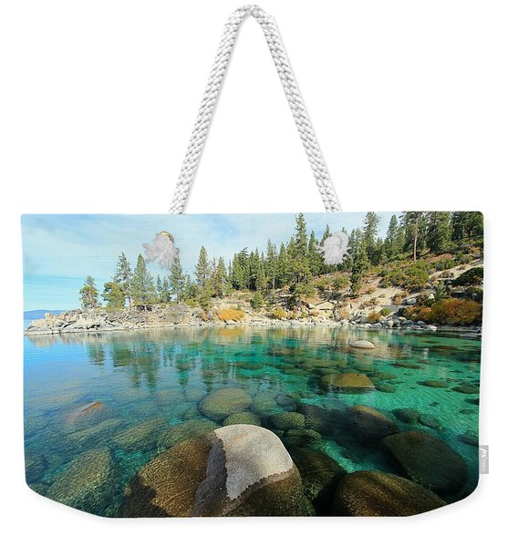Aqua Autumn  Weekender Tote Bag