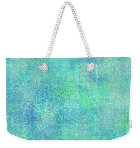 Aqua Batik Print Coordinate Weekender Tote Bag
