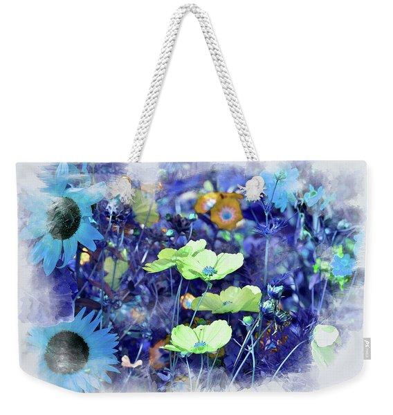 Aqua Blue Weekender Tote Bag