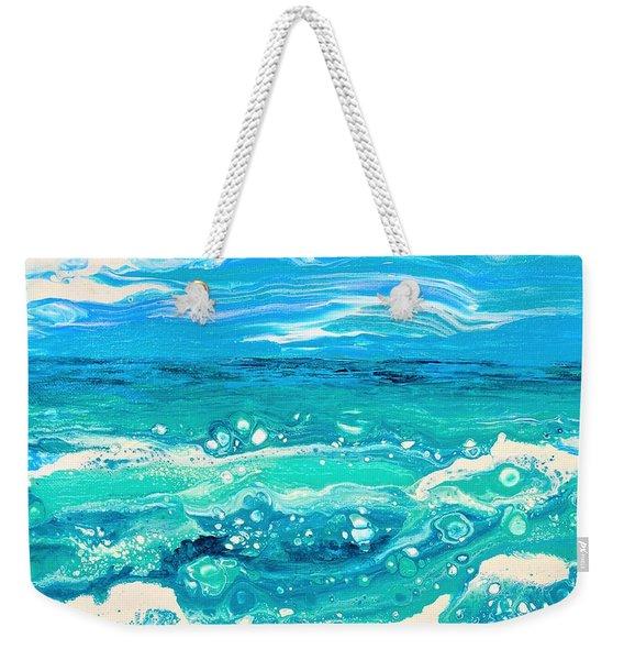 Aqua Seafoam Weekender Tote Bag