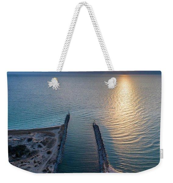 Arcadia Beach Inlet Aerial Weekender Tote Bag