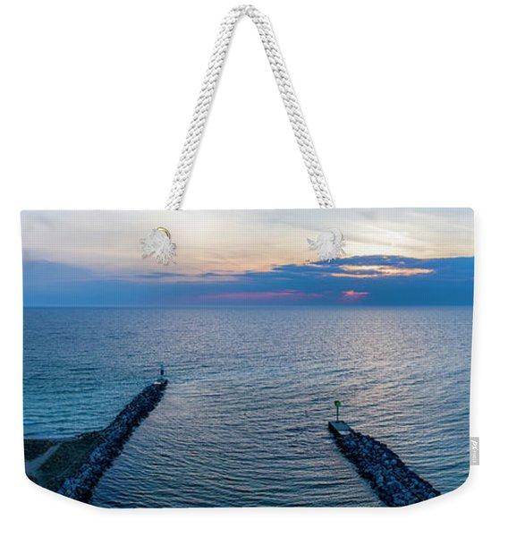 Arcadia Beach Inlet Panorama Weekender Tote Bag