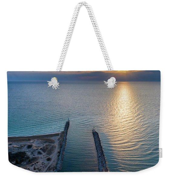 Arcadia Beach Inlet Sunset Weekender Tote Bag