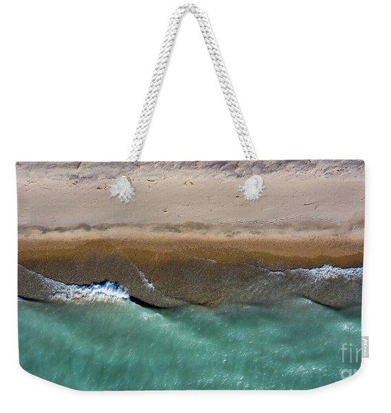 Arcadia Waves And Beach Aerial Weekender Tote Bag