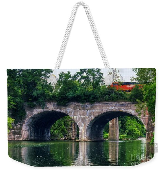 Arched Train Bridge   Weekender Tote Bag