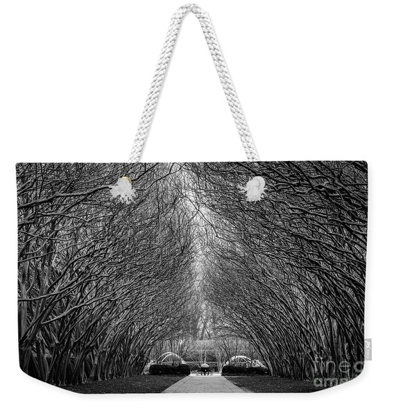 Weekender Tote Bag featuring the photograph Arches by Dheeraj Mutha