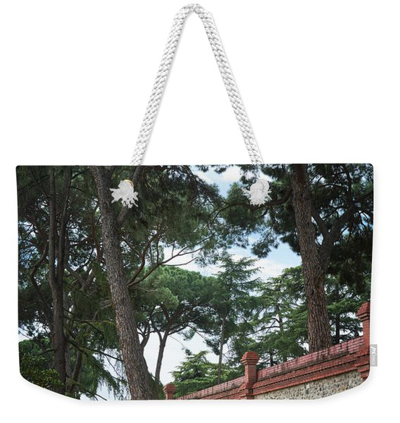 Architecture At The Gardens Of Cecilio Rodriguez In Retiro Park - Madrid, Spain Weekender Tote Bag