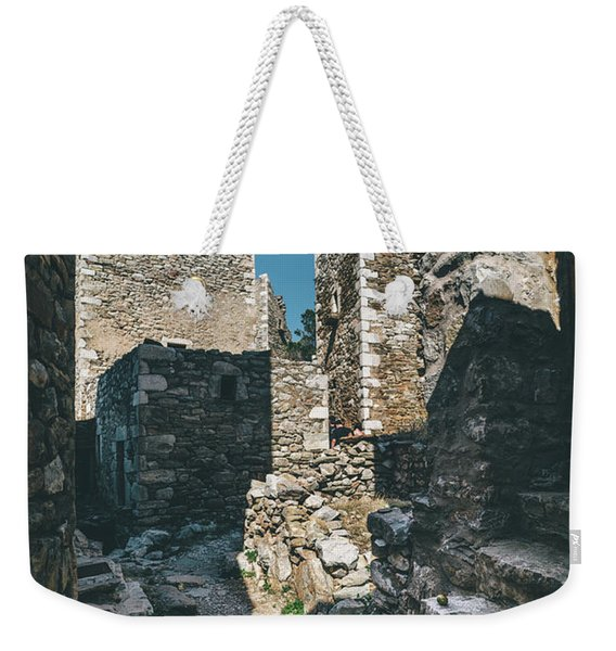 Architecture Of Old Vathia Settlement Weekender Tote Bag