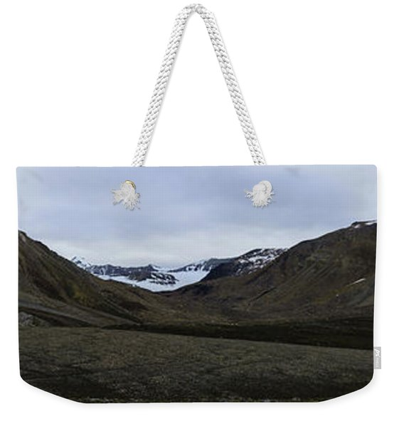 Arctic Mountain Landscape Weekender Tote Bag