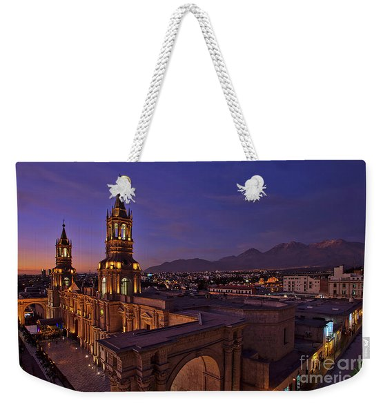 Weekender Tote Bag featuring the photograph Arequipa Is Peru Best Kept Travel Secret by Sam Antonio Photography