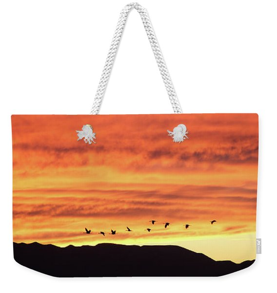 Arizona Sunset Of The Mule Mountains Weekender Tote Bag