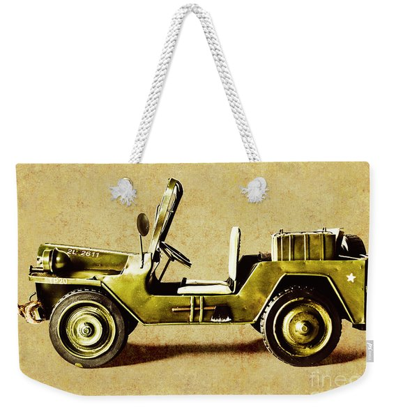 Army Jeep Weekender Tote Bag