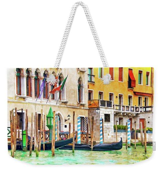 Arrival In Venice Weekender Tote Bag