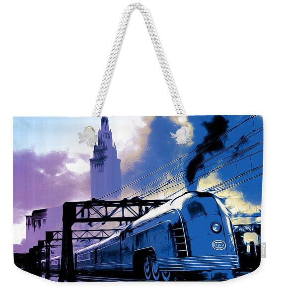 Art Deco Train Weekender Tote Bag