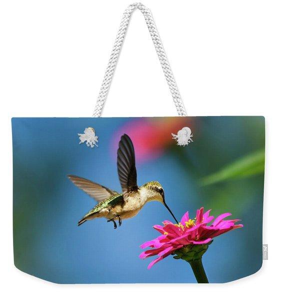 Art Of Hummingbird Flight Weekender Tote Bag