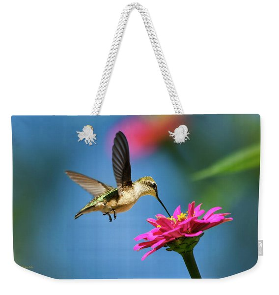 Art Of Hummingbird Flight Weekender Tote Bag