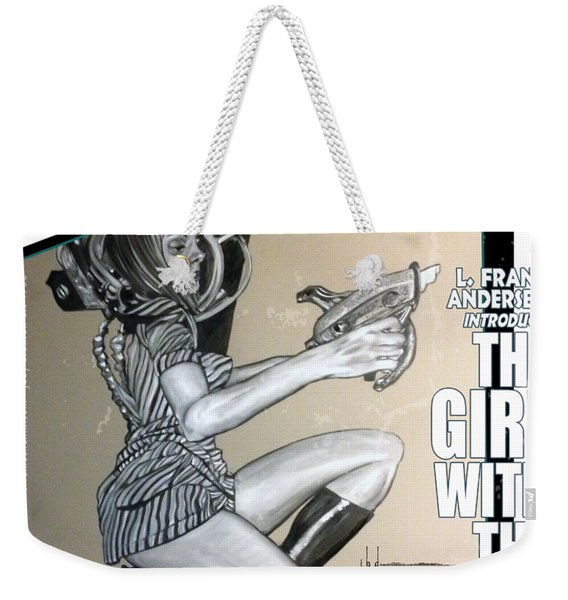 arteMECHANIX 1906 The GIRL WITH The SHINY RAYGUN GRUNGE Weekender Tote Bag