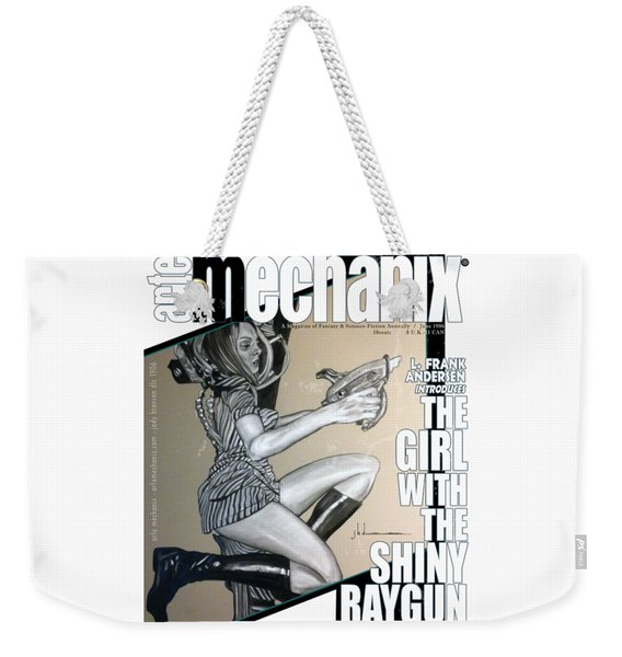 arteMECHANIX 1906 The GIRL WITH The SHINY RAYGUN GRUNGE Weekender Tote Bag