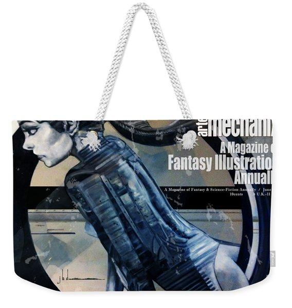 arteMECHANIX 1908 PERENNIAL SPIN GRUNGE Weekender Tote Bag