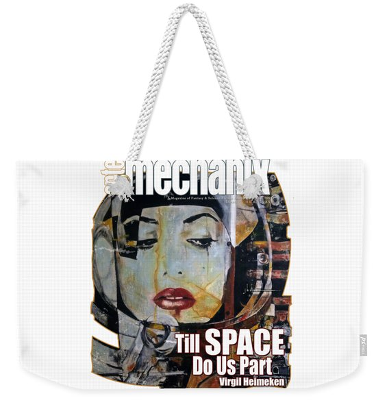 arteMECHANIX 1909 TILL SPACE GRUNGE Weekender Tote Bag