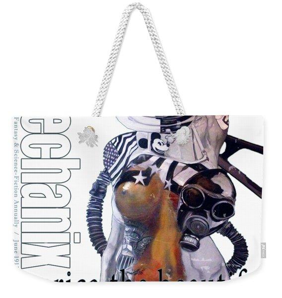 arteMECHANIX 1913 AMERICA THE BEAUTIFUL GRUNGE Weekender Tote Bag