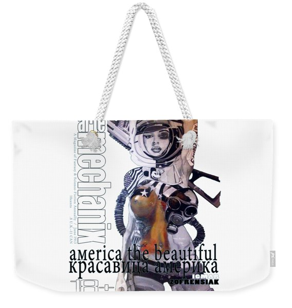 arteMECHANIX 1913 AMERICA THE BEAUTIFUL GRUNGE Weekender Tote Bag