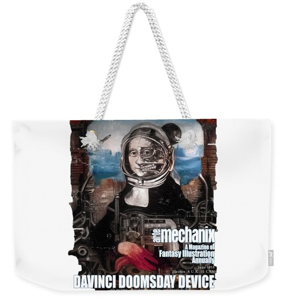 arteMECHANIX 1918 DAVINCI DOOMSDAY DEVICE  GRUNGE Weekender Tote Bag