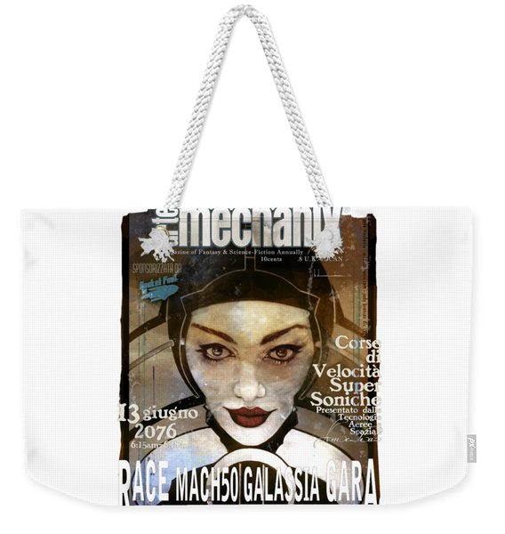 arteMECHANIX 1924 RACE MACH50  GRUNGE Weekender Tote Bag